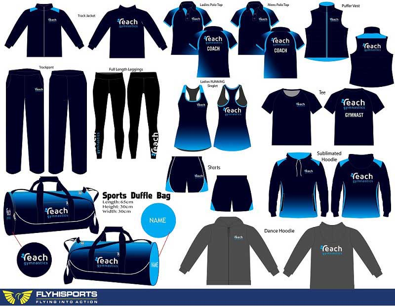 Reach Gymnastics uniform options