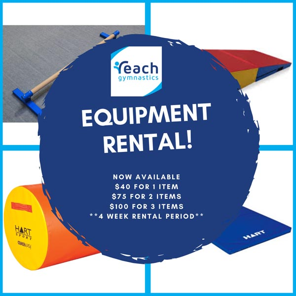 gymnastic equipment rental at Reach Gymnastics Pakenham