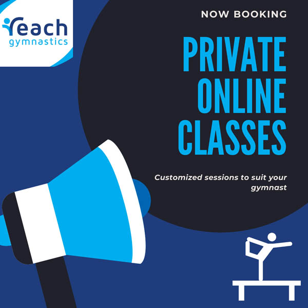 private online gymnastic classes at Reach Gymnastics Pakenham