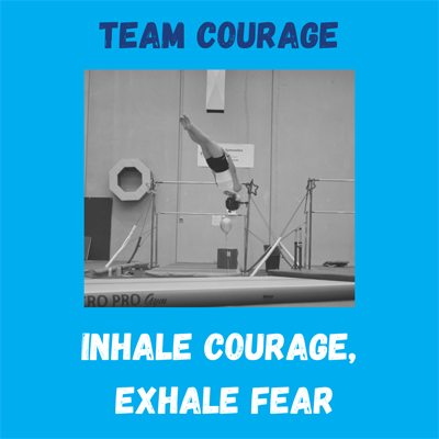 team courage competing at at Reach Gymnastics Pakenham