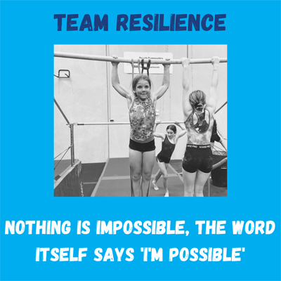 team resilience competing at Reach Gymnastics Pakenham