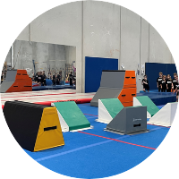 first ninja zone apparatus at reach gymnastics pakenham