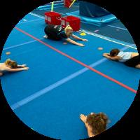 kindergym stretching at reach gymnastics pakenham