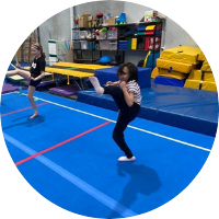 ninja kicks and ninja mantra at reach gymnastics pakenham