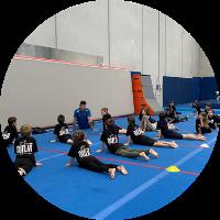 ninja zone stretching at reach gymnastics pakenham